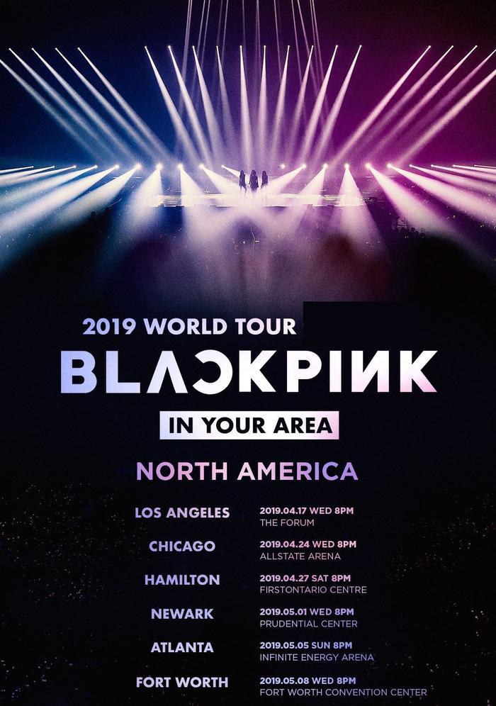 Những nơi tại Bắc Mỹ sẽ diễn ra concert của BlackPink