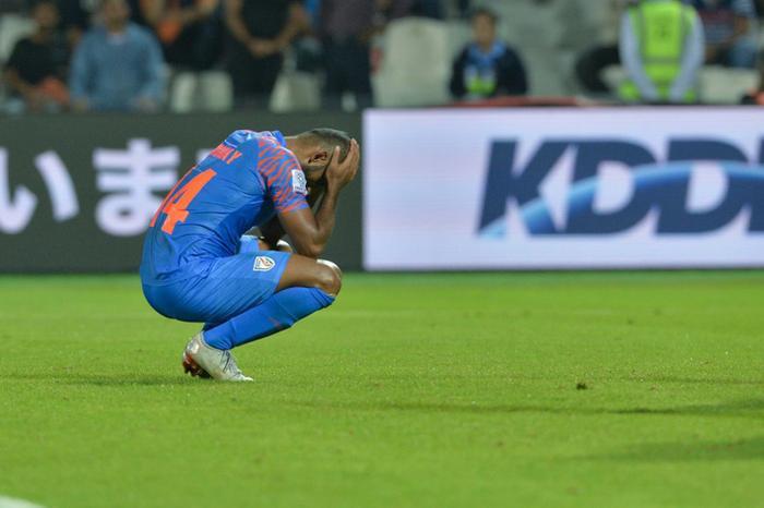 Đội tuyển Ấn Độ không thể vượt qua vòng bảng Asian Cup. Ảnh: Getty.