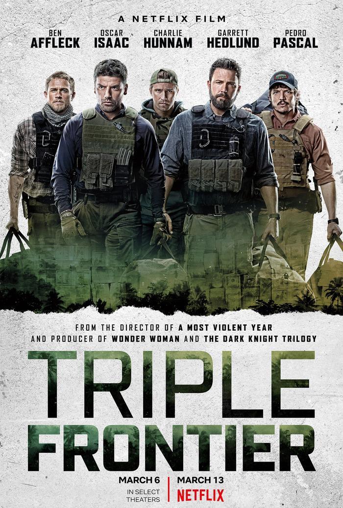 Poster chính thức của Triple Frontier.