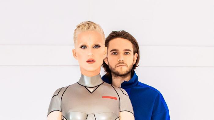 Katy Perry và Zedd trong MV hóa thân thành cặp tình nhân người máy.