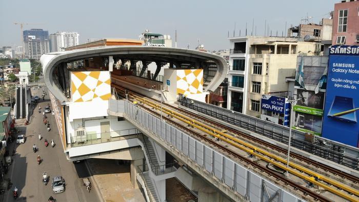 Dự án đường sắt đô thị tuyến Cát Linh - Hà Đông chuẩn bị đưa vào khai thác thương mại.