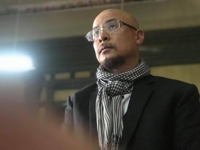 Ông Đặng Lê Nguyên Vũ trong phiên tòa hôm nay.