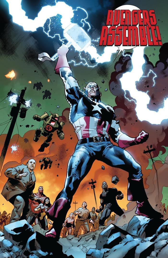 Captain America nhấc búa lên