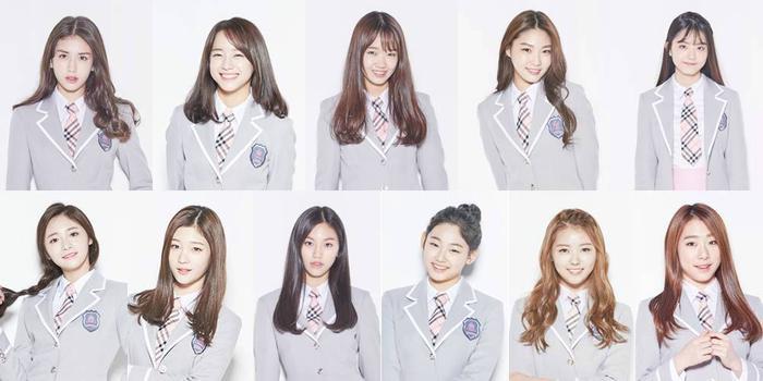 Các thành viên I.O.I trong trang phục của chương trình Produce 101.