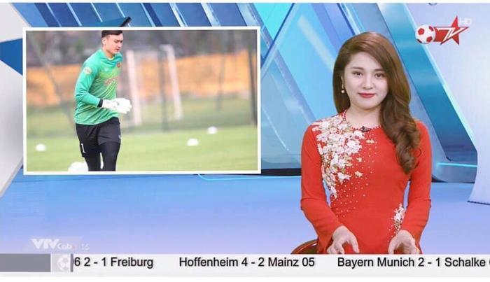 Nữ MC xinh đẹp dẫn bản tin thể thao