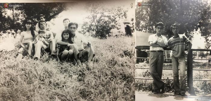 Những bức ảnh tư liệu về ông Ri bên gia đình thầy Chính.