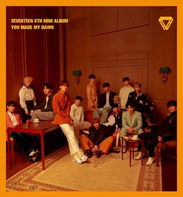 Bìa album You Made Me Dawn của Seventeen.
