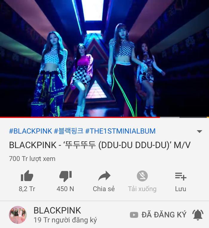 BlackPink trở thành nhóm Kpop đầu tiên có MV đạt 700 triệu views ảnh 0