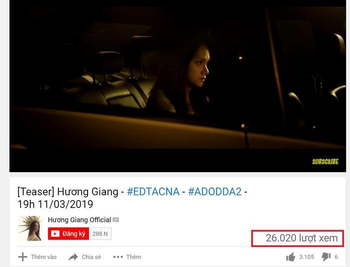 Không hổ danh bom tấn âm nhạc, teaser MV #EDTACNA của Hương Giang đạt view khủng sau chưa đầy nửa tiếng phát hành ảnh 4