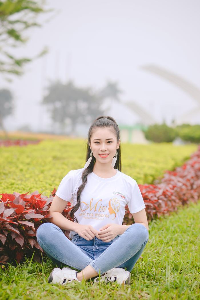 Nguyễn Thị Ngọc Mỹ (MA07), thí sinh đến từ Yên Bái với niềm yêu thích và tự hào khi được tham gia các hoạt động tình nguyện.