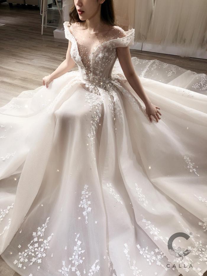 Cận cảnh chiếc váy của Trinh Hoàng