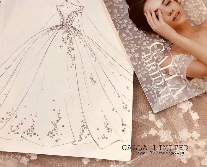 Chiếc váy này từ lúc lên ý tưởng cho đến khi may đều được thực hiện tỉ mỉ, chu đáo