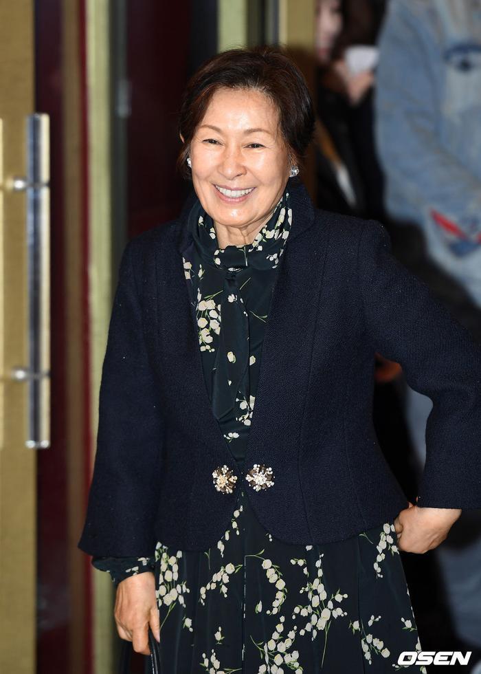 Nụ cười đẹp lão của nghệ sĩ Kim Hye Ja.