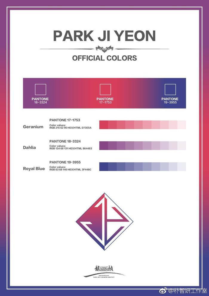 Màu sắc chính thức cho fandom của Jiyeon.