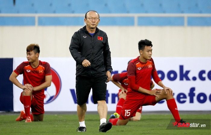 HLV Park Hang Seo là nhà cầm quân tài ba của bóng đá Việt Nam.
