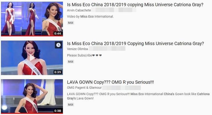 Đây là điều được fan quan tâm nhất về cuộc thi Miss Eco International 2019: Nghi vấn đạo váy của thí sinh Trung Quốc.