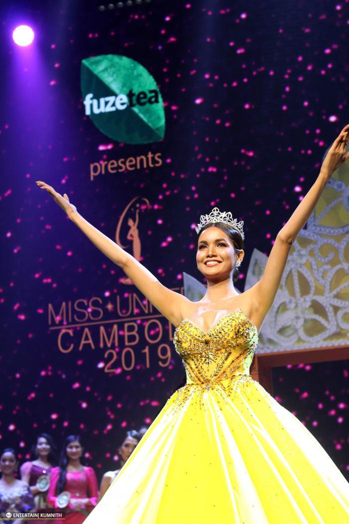 Cựu Hoa hậu Hoàn vũ Campuchia –Rern SiNat được đánh giá cao nhưng vẫn không thể lọt top 20 Miss Universe 2018.