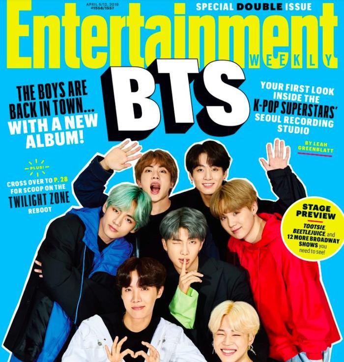 BTS xuất hiện trên trang bìa tạp chí Entertaiment Weeky.