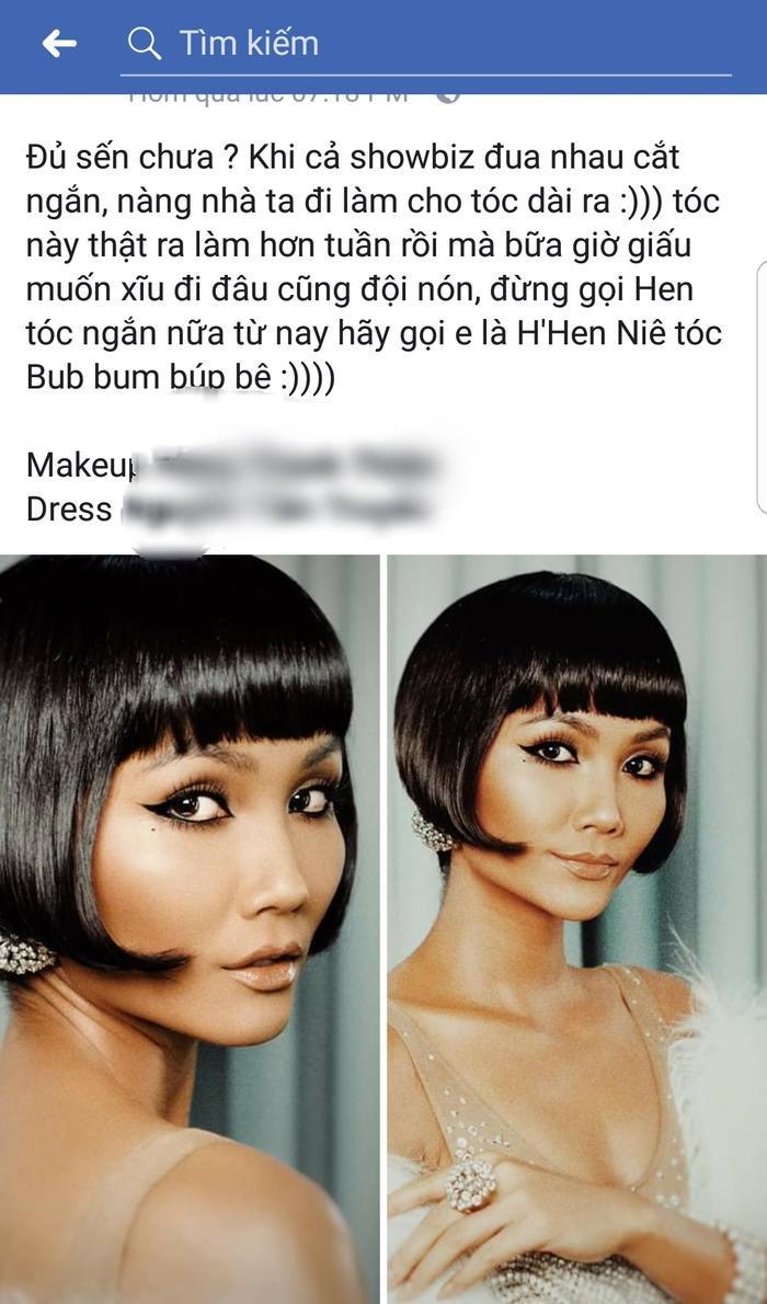 Chia sẻ của stylist, xác nhận đây là mái tóc mới của cô nàng.