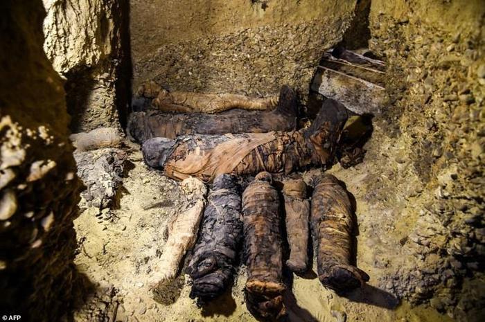 Một số xác ướp được tìm thấy trong lăng mộ.