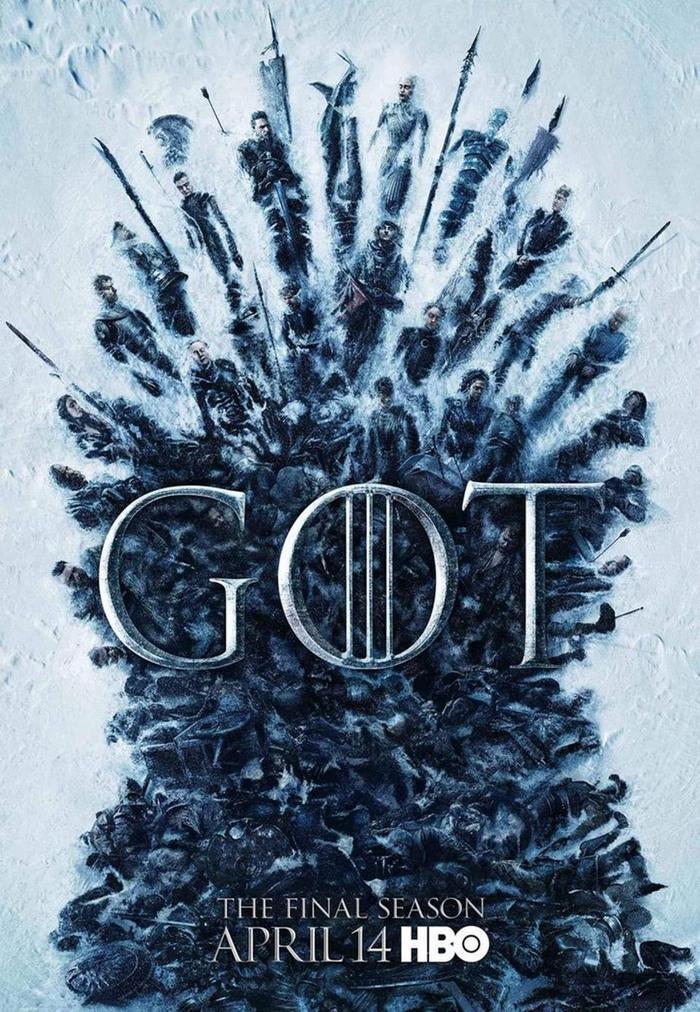 Poster chính thức của Trò chơi vương quyền mùa 8.