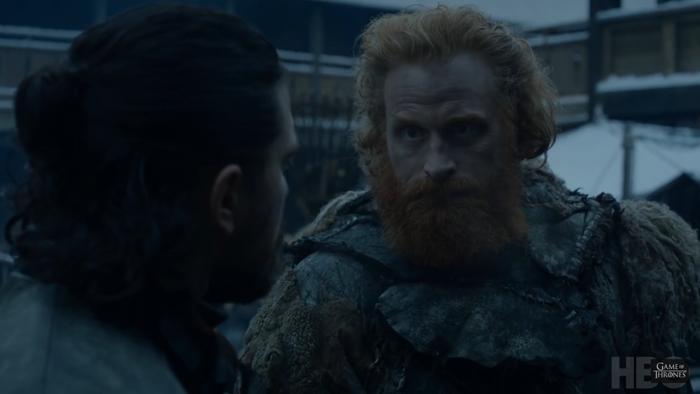 Tormund đã đến Winterfell.