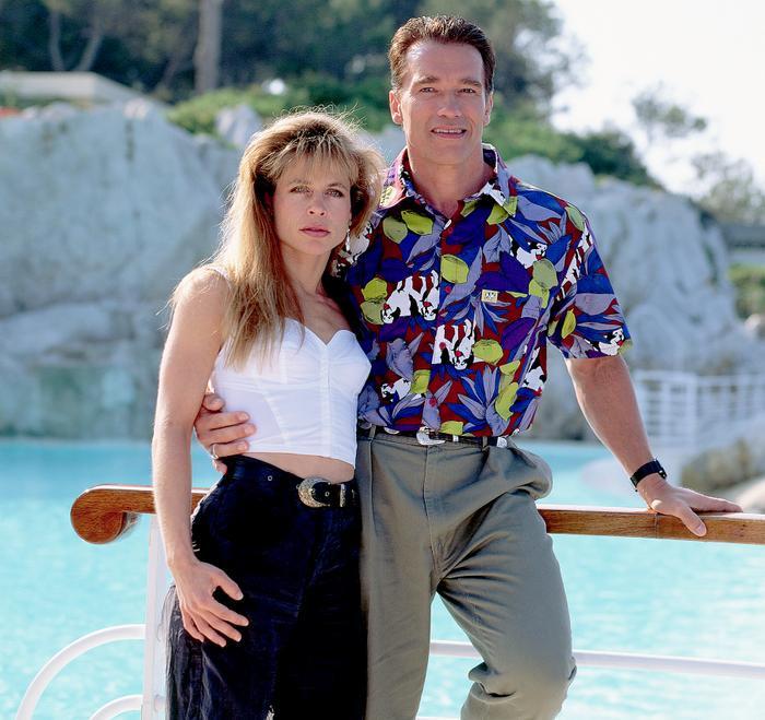 Arnold Schwarzenegger và Linda Hamilton năm 1991.