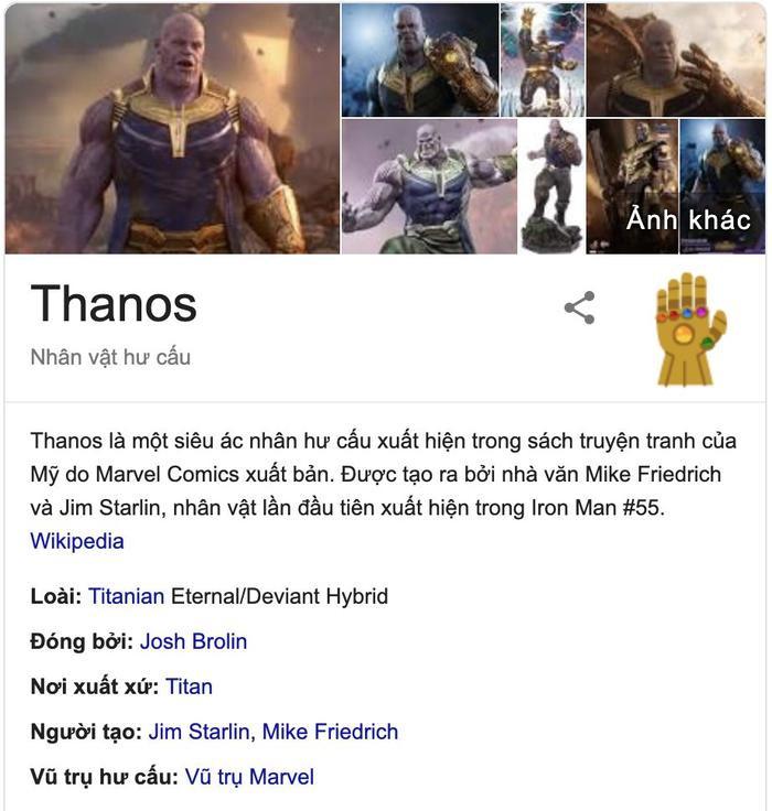 Biểu tượng găng tay vô cực màu vàng của Thanos.