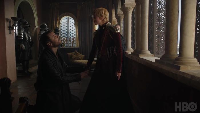 Màn cầu hôn quen thuộc của Euron dành cho Cersei.