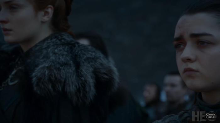Arya là người chính tay giết chết Dạ Đế.
