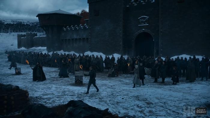 Đoàn quân Winterfell chuẩn bị đến King's Landing.
