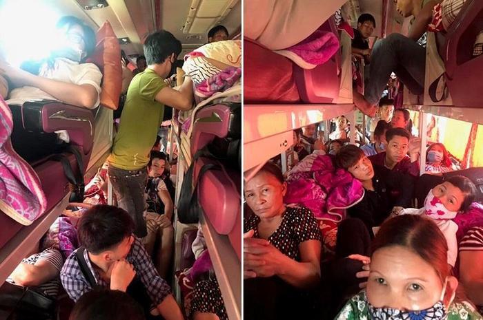 Hành khách bị nhồi nhét đến ngạt thở.