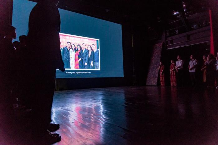 Nhà hát Kịch Việt Nam cũng đã chiếu một đoạn clip đặc biệt ghi lại những hình ảnh chị Hải Yến.