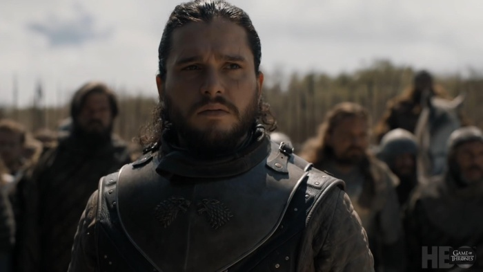 Jon Snow không thể không lo lắng cho tình hình hiện tại.