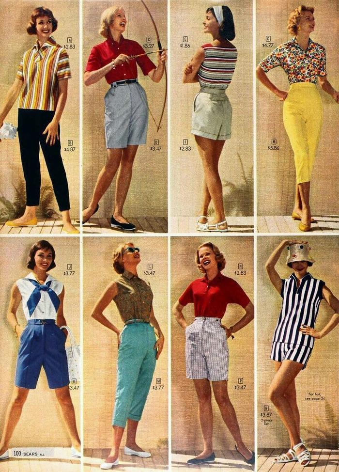 Phong cách casual cũng được định hình khi phụ nữ thoải mái và năng động trong chiếc quần lửng cạp cao nhấn eo hoặc quần short phối cùng áo blouse.