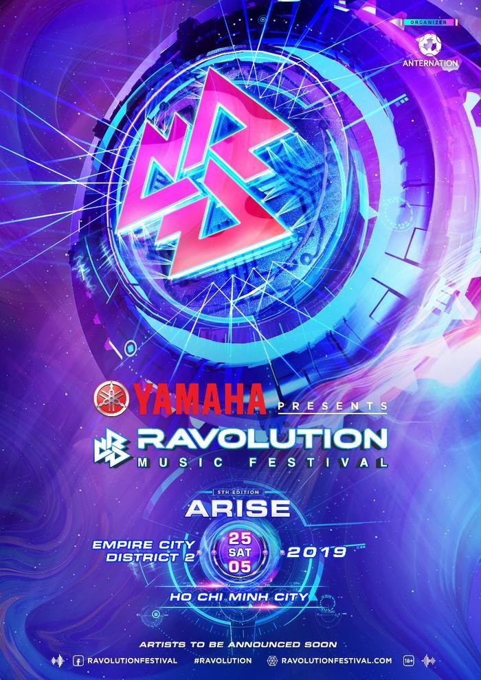 Yamaha chính thức đưa siêu lễ hội EDM Ravolution Music Festival trở lại vào ngày 25/5 này tại EMPIRE CITY, Tp. HCM!