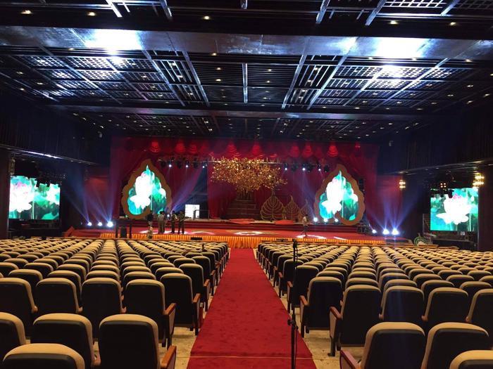 Phòng hội nghị trong Trung tâm nơi sẽ tiếp đón các đoàn đại biểu tham dự Đại lễ Phật đản Vesak 2019 đã hoàn thành.