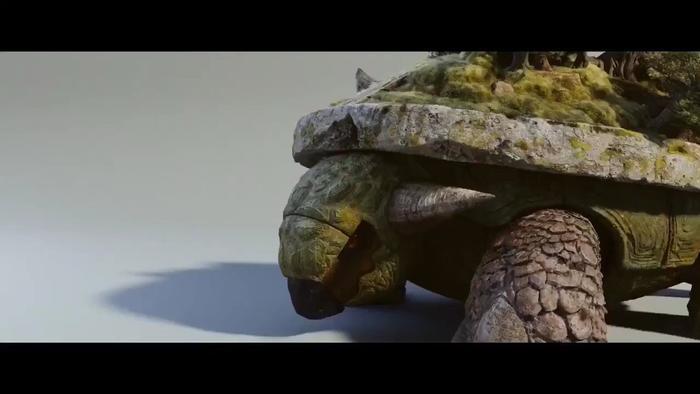 Torterra – Một loại Pokémon thực vật, được tiến sĩ Laurent phát triển đến kích thước khổng lồ.