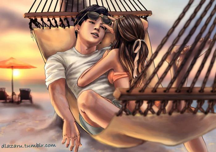 Sau đó lại là một buổi dã ngoại trên biển lúc hoàng hôn của cặp đôi.