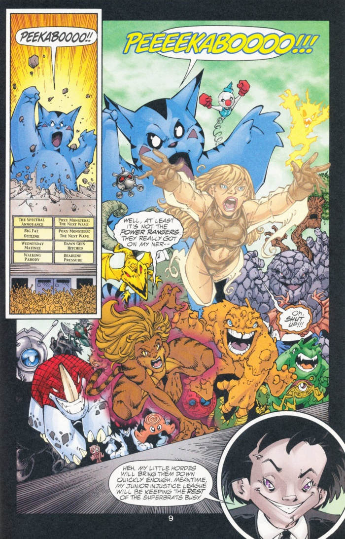 Các Poxy Monsters truy đuổi những thành viên của Young Justice