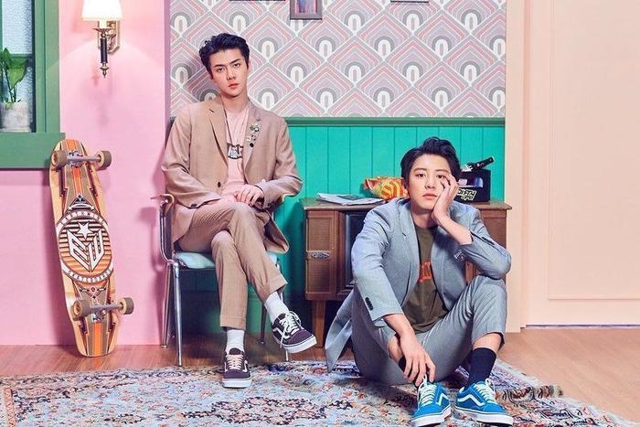 Hai anh chàng Sehun và Chanyeol.
