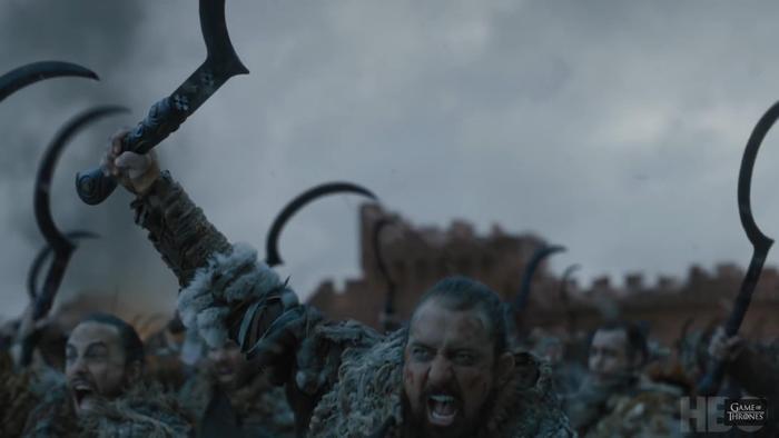 Đoàn quên Dothraki sẵn sàng phục tùng nữ hoàng.