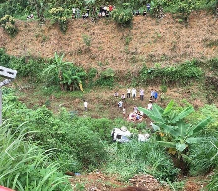 Hiện trường vụ tai nạn khiến 2 vợ chồng thương vong.