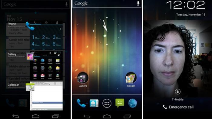 4.0 Ice Cream Sandwich (2011): Ice Cream Sandwich là điểm kết nối giữa Android cho máy tính bảng và cho điện thoại. Nó bổ sung thêm tính năng nhận diện khuôn mặt và hiệu ứng video trực tiếp cho camera.