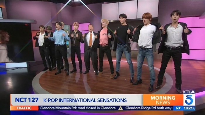 NCT 127 trênKTLA 5 Morning News.