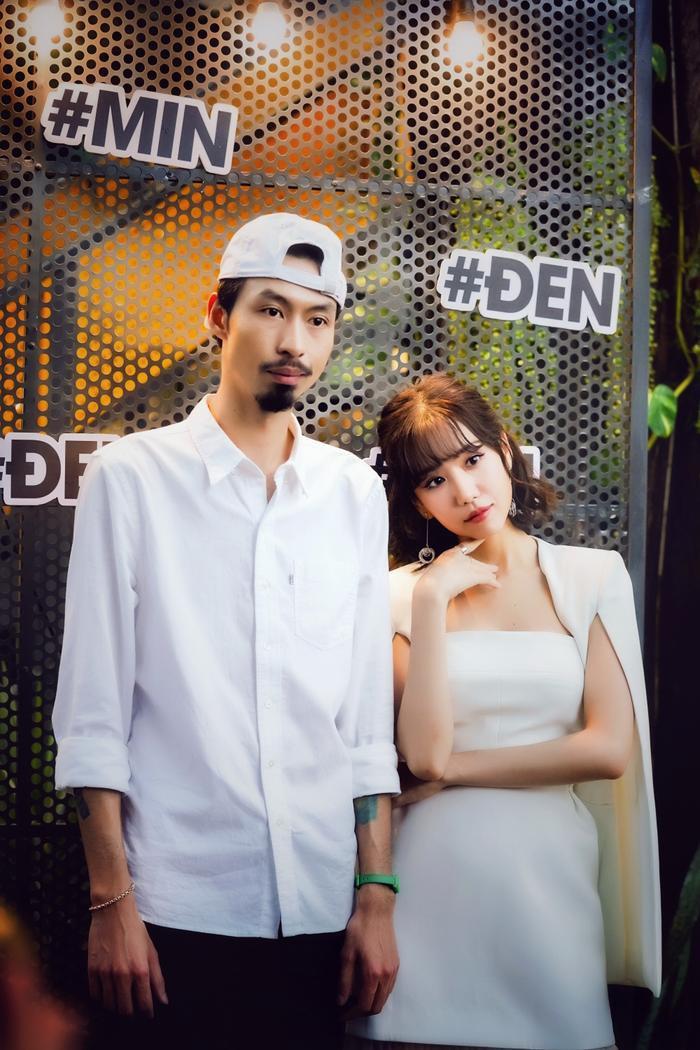 Đen Vâu và Min trong buổi họp báo ra mắt MV Bài này chill phết.