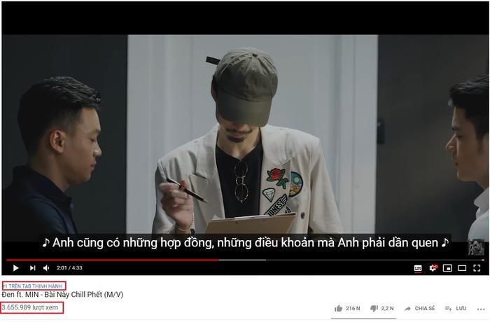 """Sau hơn 1 ngày ra mắt, MV đã chính thức giữ vị trí """"ngôi vương"""" top 1 trending trên Youtube."""
