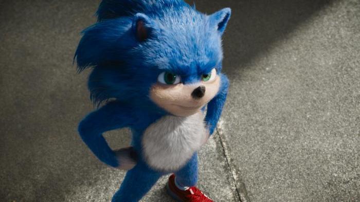 Tạo hình bị chê bai của nhím Sonic.