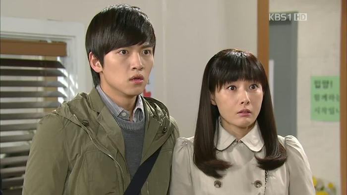 Dong Hae và bạn gái cũ Sae Hwa. (Nguồn ảnh: KBS1HD)