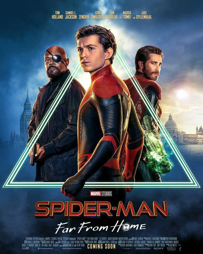 Poster chính thức của Spider-Man: Far From Home.